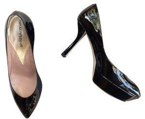 Giorgio Armani Black Patent Leather Pumps