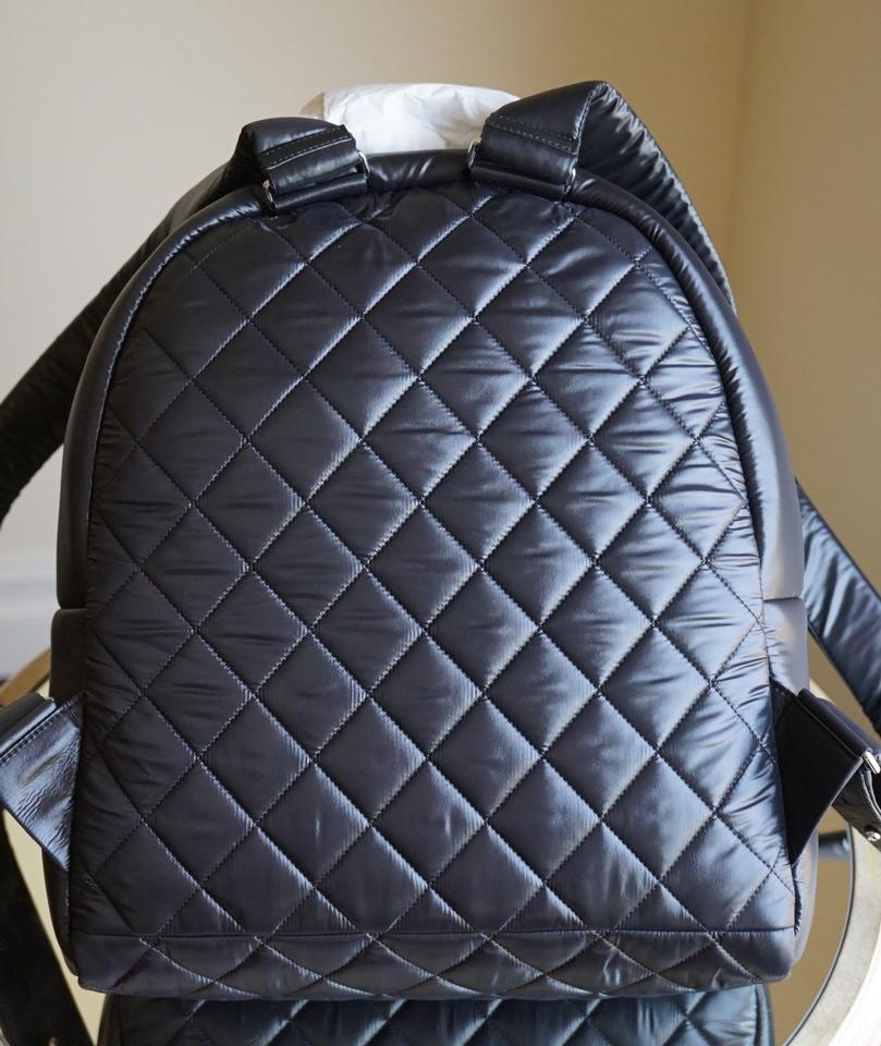 0553f74e935f Chanel Cocoon Backpack Quilted 2015 Fall Collection Black Nylon Backpack -  Tradesy