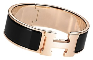 Hermès Hermes Black Rose Gold Clic Clac Hardware Pm Wide