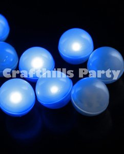 48 Pcs Led Blue Fairy Mini Glowing Waterproof Floating Ball Light For Party Wedding Floral Decoration