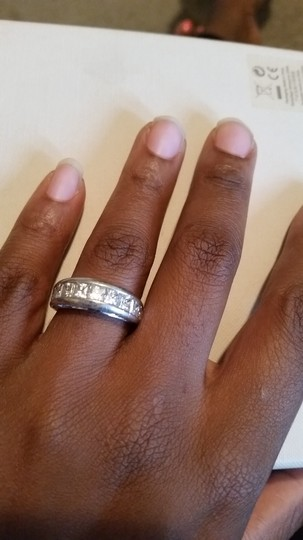 Other Sterling silver cz double size design band ring