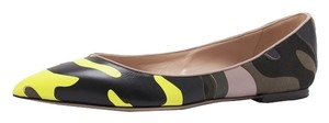 Valentino Leather Camouflage Rockstud Camo Camouflage Rockstud Camouflage Rockstud Camo Army green yellow 38.5(EU) NWT Flats