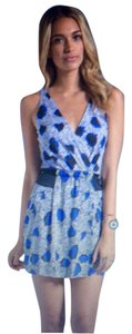 Diane von Furstenberg short dress Cheetah Island Blue on Tradesy