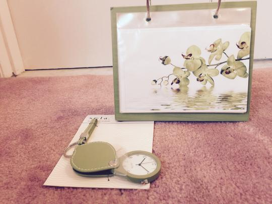 Green New Terrific Matching Set Includes Key Chain Watch and Photo Album Other
