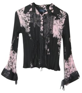 Rag & Bone Lace Ribbon Pink Top Black