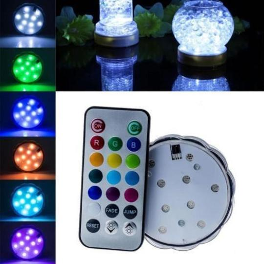 Rgb Multi Color 5x Waterproof 10 Led Submersible Party Eiffel Tower Vase Base Light with Remote Control Votive/Candle