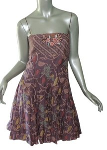 Free People short dress dusty purple floral on Tradesy