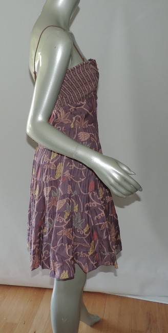 Free People short dress dusty purple floral Free New With Tag Mini on Tradesy