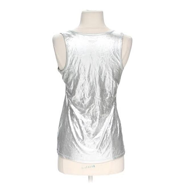 Rock & Republic Metallic Top Silver