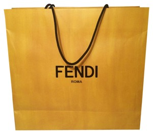 Fendi Shopping Tote in Yellow