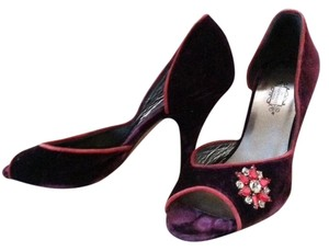 Lulu Guinness Cranberry Wine Pumps