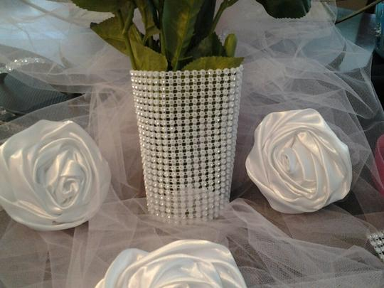 White Silver Real Crystal Rhinestone Bouquet Wrap Wedding Wrapping Bling Holder