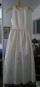 Jessica McClintock Ivory White Children's Bridal Dress Size 10 Dress