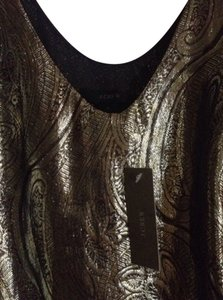 J.Crew Top Black & Gold