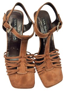 Via Spiga #suede #strappy brown Sandals