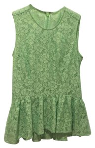 W118 by Walter Baker Peplum Lace Top Green