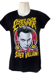 Other Big Bang Sheldon Scientist Evil Villain T Shirt black, yellow, red, white