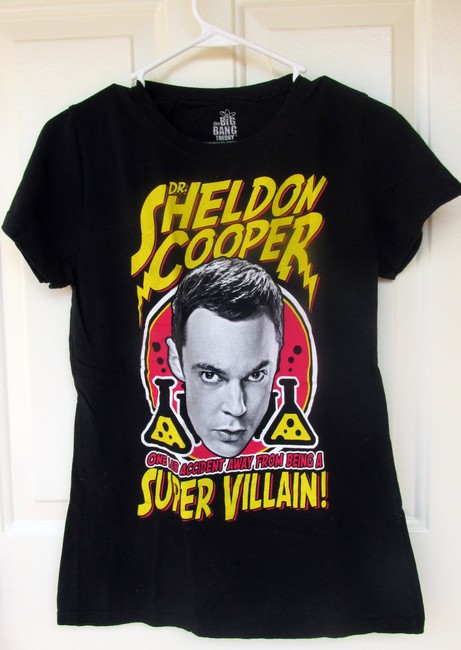 Other Big Bang Theory Sheldon Cooper Scientist Evil Villain T Shirt black, yellow, red, white