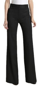 BCBGMAXAZRIA Like New Wear To Work Trouser Trouser Pants Charcoal Gray w/ Classic Chalk Stripe