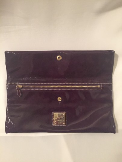 Dooney & Bourke And Eggplant Fold Over Purple Clutch