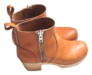 swedish hasbeens Boots Boots Leather Zip Boots Heeled Boots natural Mules