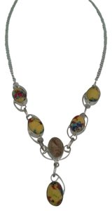 Other Yellow Spotted Jasper & Sterling Silver Statement