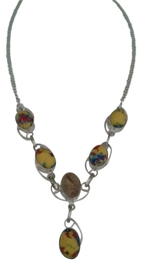 Preload https://img-static.tradesy.com/item/540231/yellow-silver-spotted-jasper-and-sterling-statement-necklace-0-0-540-540.jpg