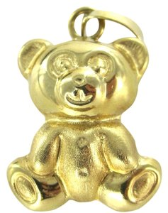 18KT karat Yellow Gold Pendant TEDDY BEAR estate