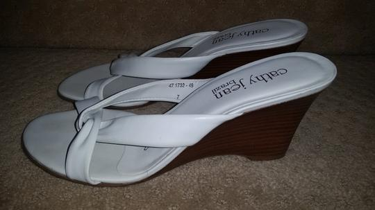 Cathy Jean White Wedges