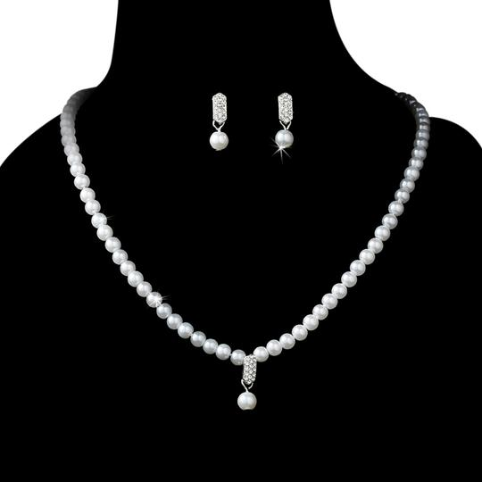 Preload https://item4.tradesy.com/images/elegance-by-carbonneau-whitesilver-pearl-necklace-and-bridal-set-earrings-5403898-0-0.jpg?width=440&height=440