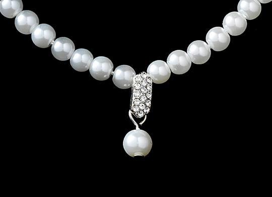 Elegance by Carbonneau Pearl Necklace and Earring Bridal Set