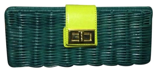 J.Crew Teal/Lime Clutch