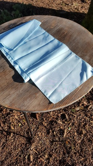 1 Light Blue Serenity Polyester Table Runner