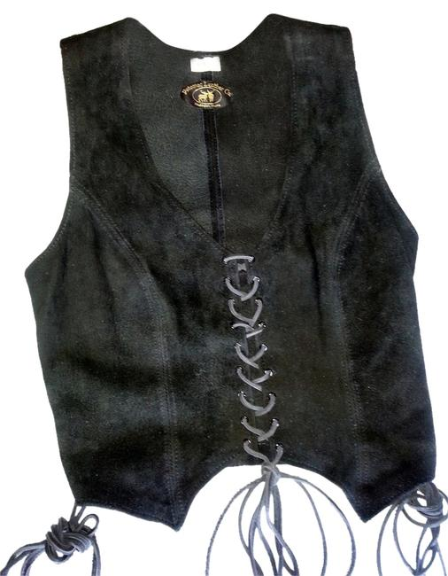 Potomac Leather Co Suede Classic Style Hand Crafted Lace Up Vest