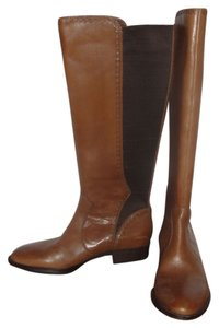 Ann Taylor LOFT Riding Leather Leather Cognac Boots