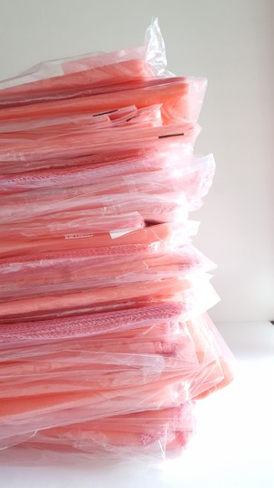 50 Coral Organza Table Runners- New