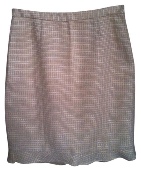 Victoria's Secret Plaid Shine Pencil Skirt Yellow / Gold