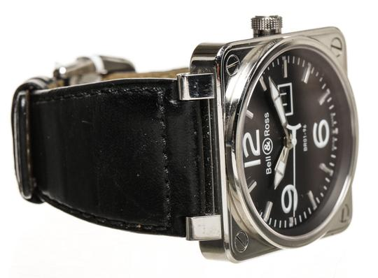 Bell & Ross Bell & Ross Black Leather Stainless Steel Watch BR01-96 (116452)