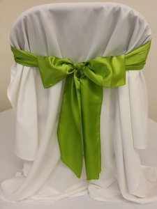 140 Sage Satin Chair Sashes