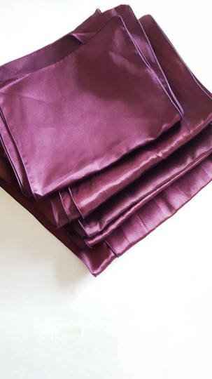 Eggplant Satin Chair Sashes Ceremony Decoration