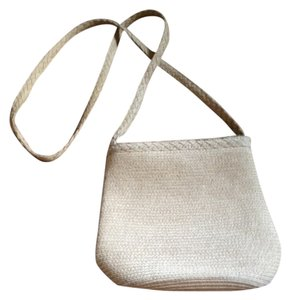 Liz Claiborne Summer Straw Lined 1 Zippered Compartment 2 Open Compartments Shoulder Bag