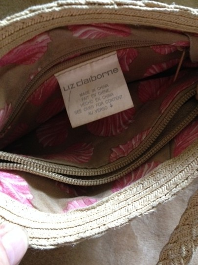 Liz Claiborne Summer Lined 1 Zippered Compartment 2 Open Compartments Shoulder Bag