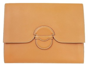 Hermès Hermes Oversized Gold Clutch