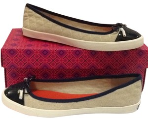 Tory Burch Natural bright navy Flats