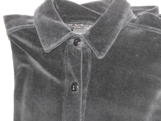 Metropolitan N.Y. Button Down Shirt Black Velour