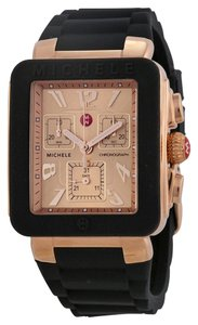 Michele Nwt Michele jelly bean park rose gold tone watch $395