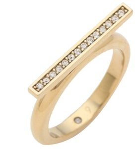 Michael Kors Pave Bar Ring, Gold Tone, Size 8