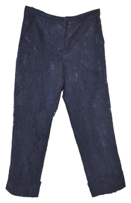 Preload https://item2.tradesy.com/images/mango-navy-lace-overlay-straight-leg-pants-size-4-s-27-5405926-0-0.jpg?width=400&height=650
