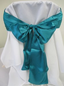 10 Jade Satin Chair Sashes