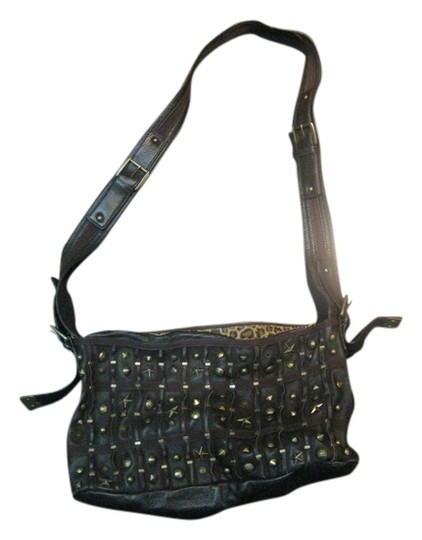 Betsey Johnson Leather Studded Cross Body Bag